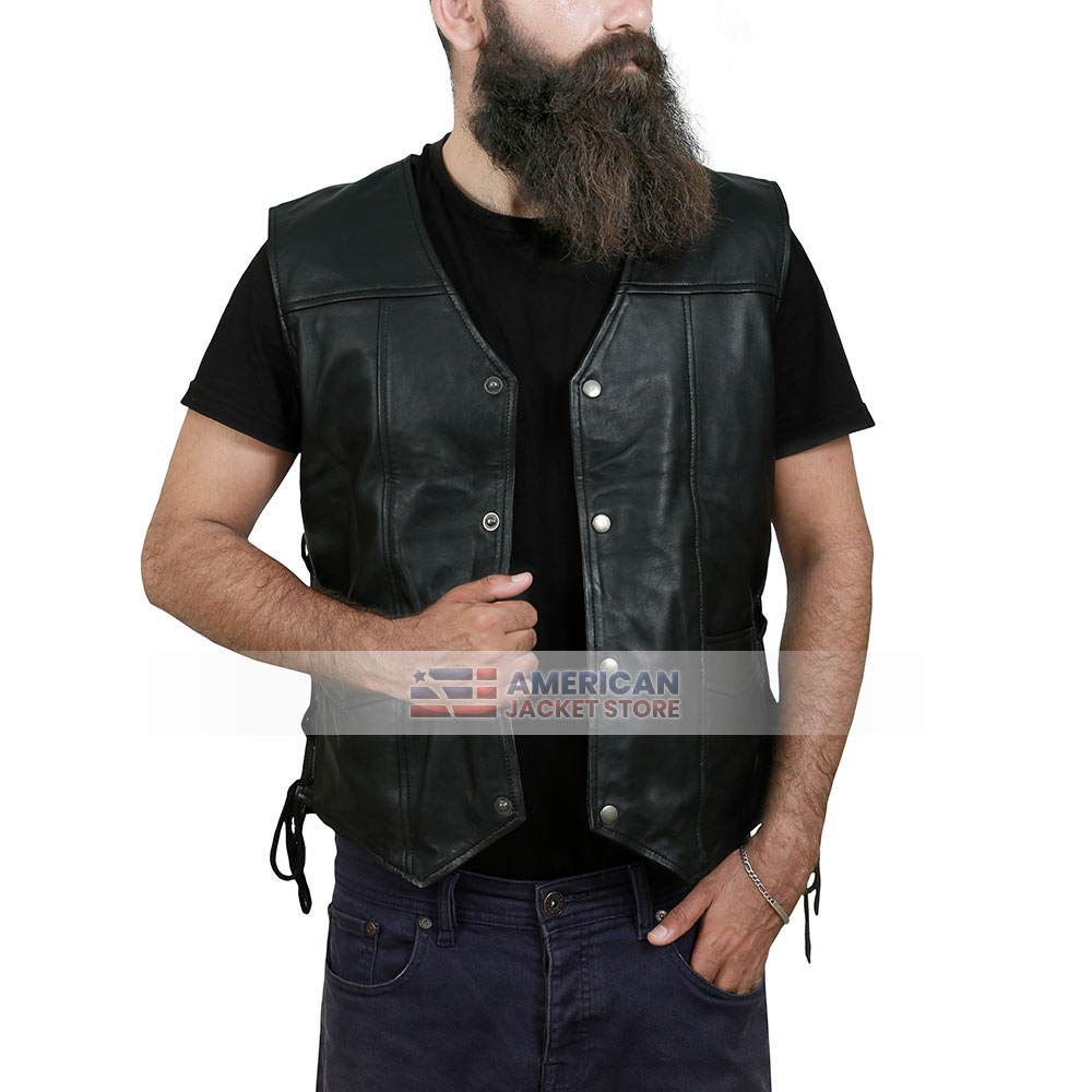 The Walking Dead-Daryl Dixon Angel Wings Real Leather Vest Jacket
